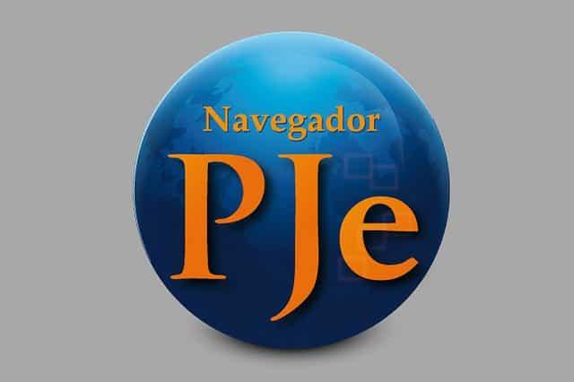 Logomarca do Navegador PJe. Crédito: Divulgação/CNJ.