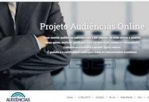 Site Audiências Online
