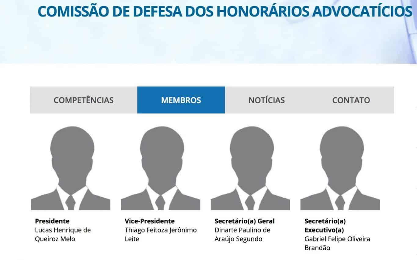 Comissão de Defesa dos Honorários Advocatícios - OAB/PB
