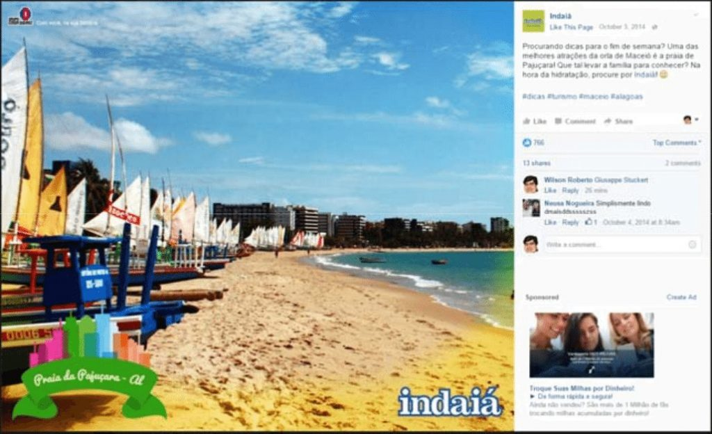 Reprodução do Facebook da Indaiá
