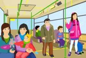A gratuidade para idosos em ônibus interestadual dispensa pagamento das taxas