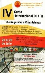 IV Curso Internacional DI + TI Ciberseguridad y Ciberdefensa