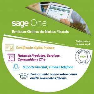 Emissor online de Notas Fiscais com Certificado Digital e-CNPJ A1 de 1 Ano - Sage One