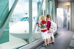 viagem de crianças