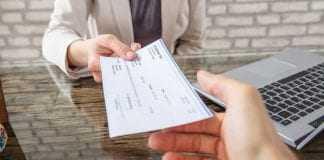 pagamento de acordo judicial com cheque