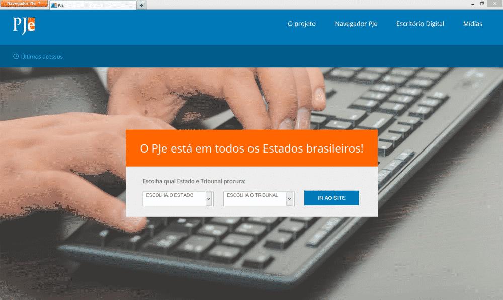 Navegador Firefox customizado para o PJe