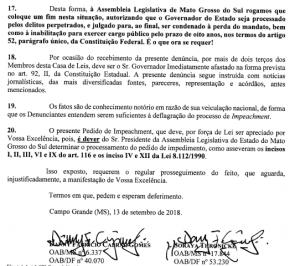 Advogados pedem impeachment de governador do MS alvo da Operação Vostok | Juristas