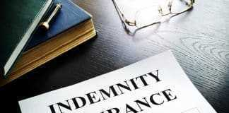 Indemnity insurance policy in an office.