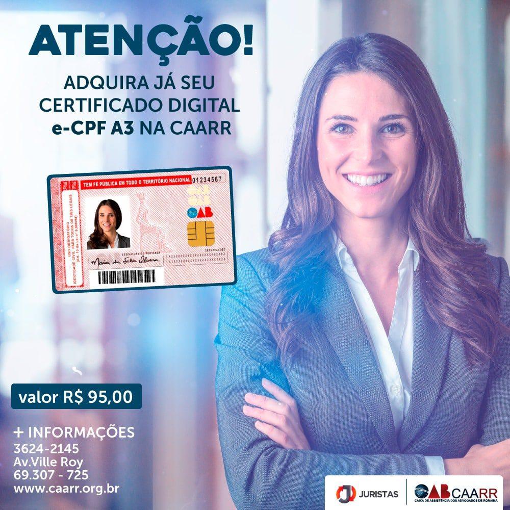 Certificado Digital na CAARR - Boa Vista - Roraima