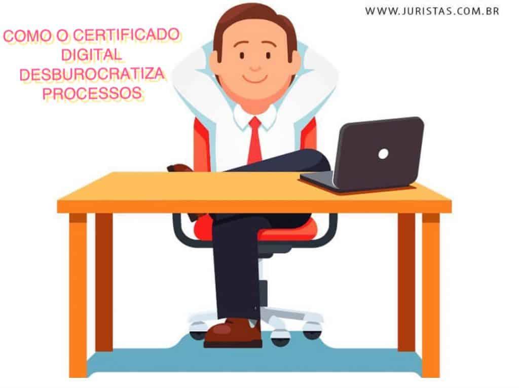 desburocratizar processos com certificado digital
