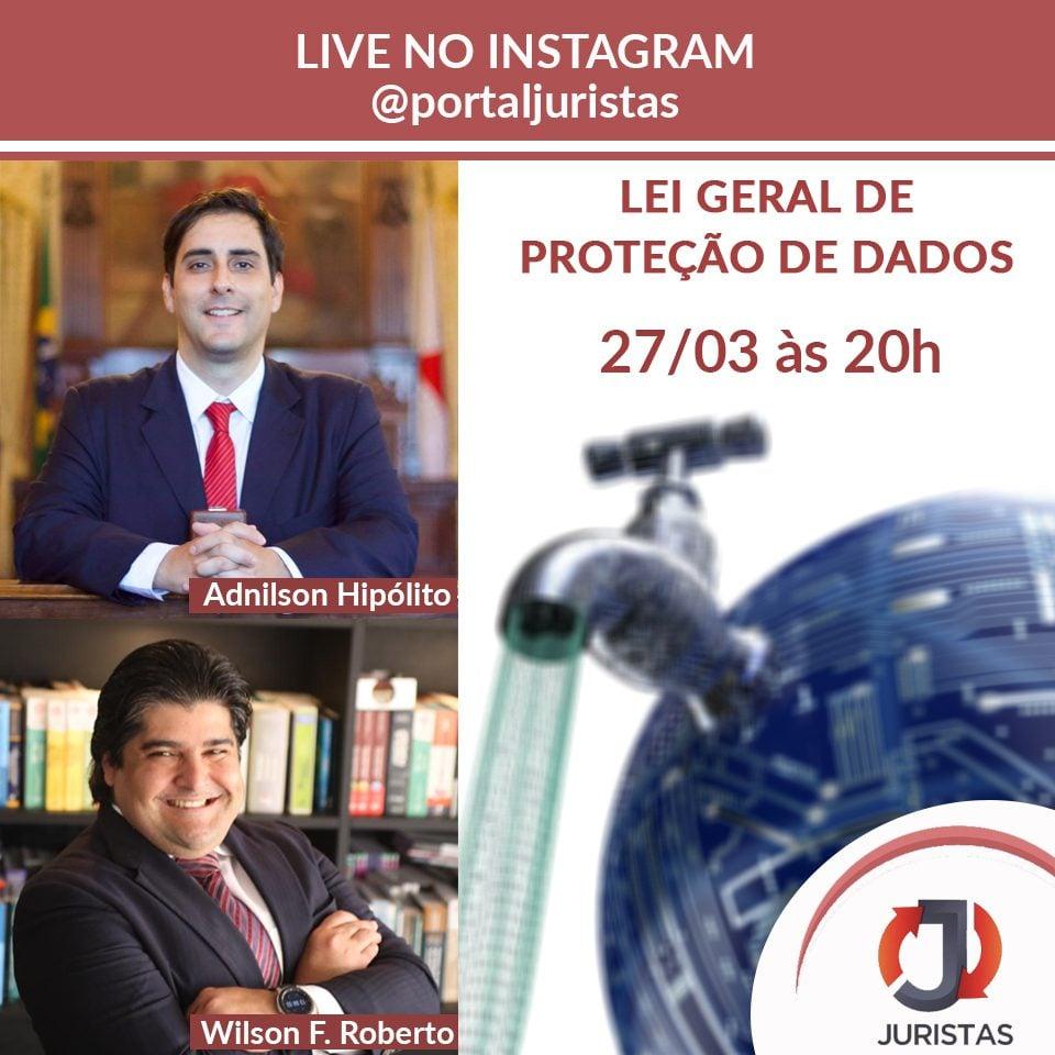 Live sobre a Lei Geral de Proteção de Dados dia 27/03 1