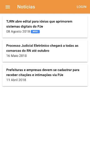 Aplicativo PJe Mobile - TJRN