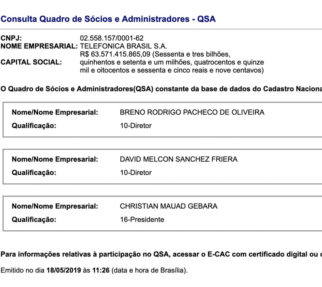 QSA Vivo SA - Telefônica