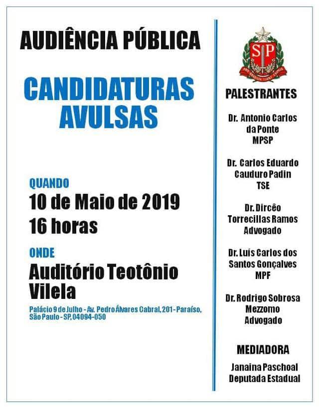 Audiência Pública debate candidaturas avulsas | Juristas