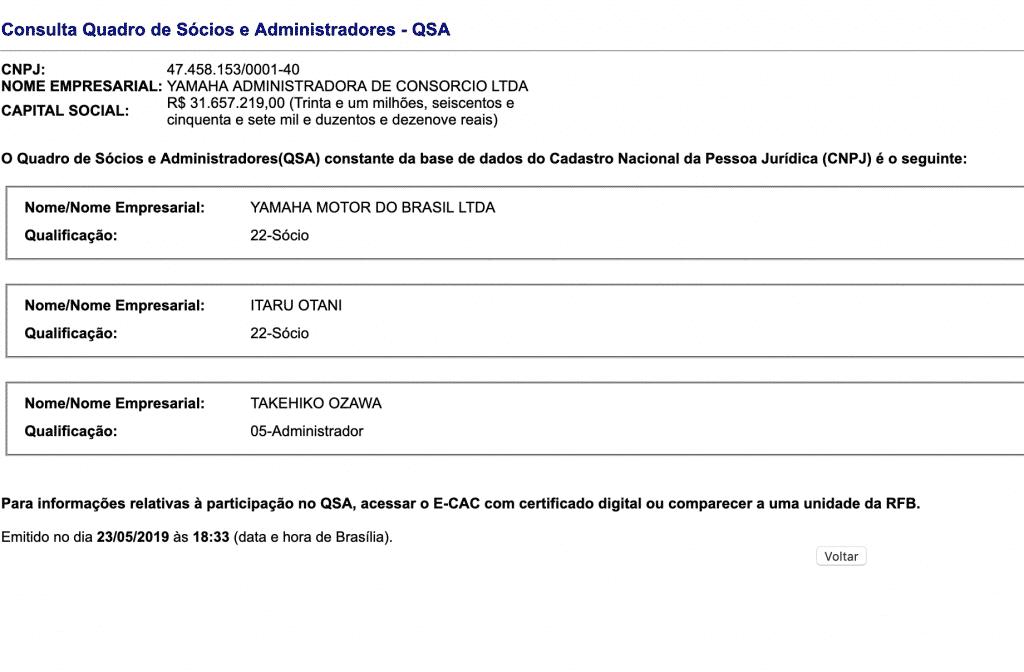 QSA - Yamaha Consórcio