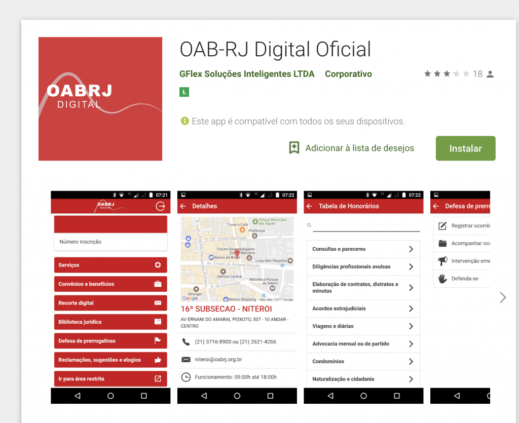 Android - Google Play - OABRJ Digital