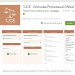 Aplicativo de consulta processual do TJCE
