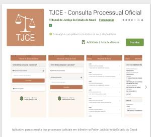 Aplicativo de consulta processual do TJCE | Juristas