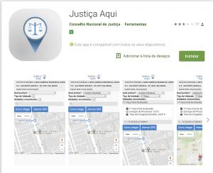 """Aplicativo """"Justiça Aqui"""" do Conselho Nacional de Justiça (CNJ)   Juristas"""