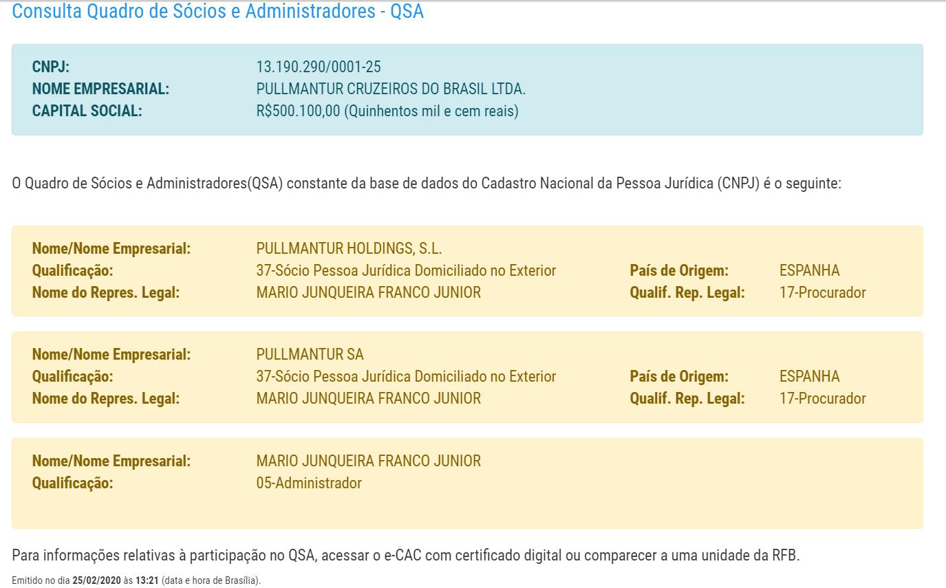 QSA Pullmantur Cruzeiros