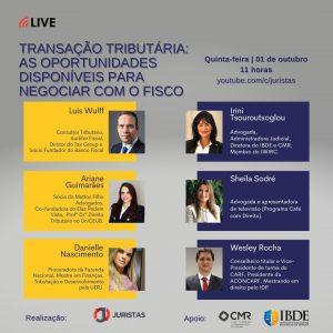 Portal Juristas realiza webinar sobre Transação Tributária   Juristas