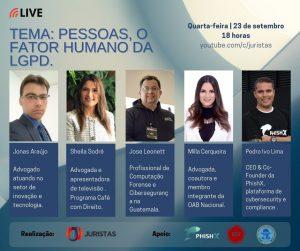Portal Juristas promove webinar sobre o Fator Humano da LGPD | Juristas