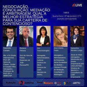 Webinar reúne especialistas para debater negociação, conciliação, mediação e arbitragem | Juristas
