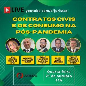 Portal Juristas discute Contratos Civis e de Consumo na Pós Pandemia em webinar nesta quarta | Juristas