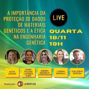 Portal Juristas discute em webinar proteção de dados de materiais genéticos | Juristas
