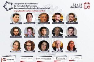 Congresso Internacional da Nova Lei de Falência, Recuperação Judicial e Extrajudicial tem início nesta quinta-feira (22) | Juristas