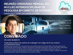 Fundador do Portal Juristas, Wilson Furtado Roberto participa de reunião do NIPEDI | Juristas