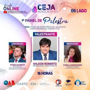 Fundador do Portal Juristas, Wilson Furtado Roberto palestra em evento promovido pela OAB-TO   Juristas